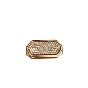 KEEP Collective Rose Gold Pave Geo Bar